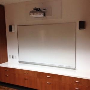 Salle de réunion, projecteur, TBI