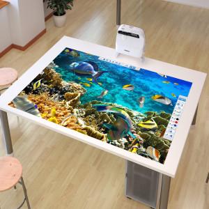 Projection sur une table
